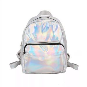 "Handbags - New Item✨ Silver Holographic ""Mini"" Backpack"